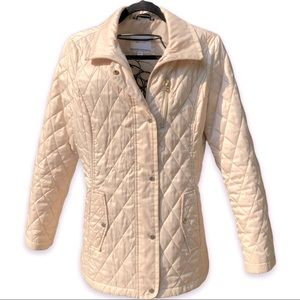 NAUTICA INSULATED QUILTED JACKET / IVORY M EUC